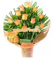 Buchet 11 trandafiri portocalii