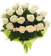 Buchet 23 trandafiri albi