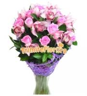 Buchet roz deluxe