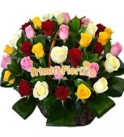Cos 39 trandafiri