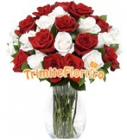 Trandafiri albi si rosii
